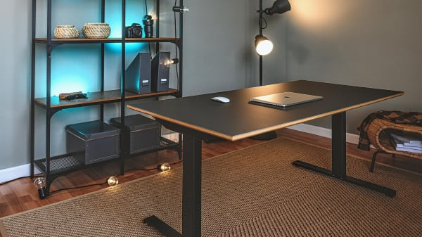 iron natural wood table top modern and cozy